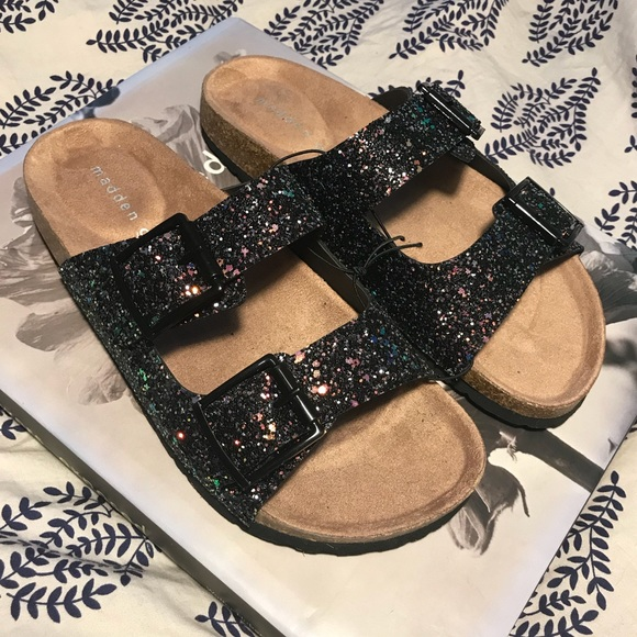 c2447facb99 Madden Girl Shoes - MADDEN GIRL glitter Brando sandals